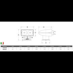 PLUG 2P+T 220V. 16A IP67 (PZ)